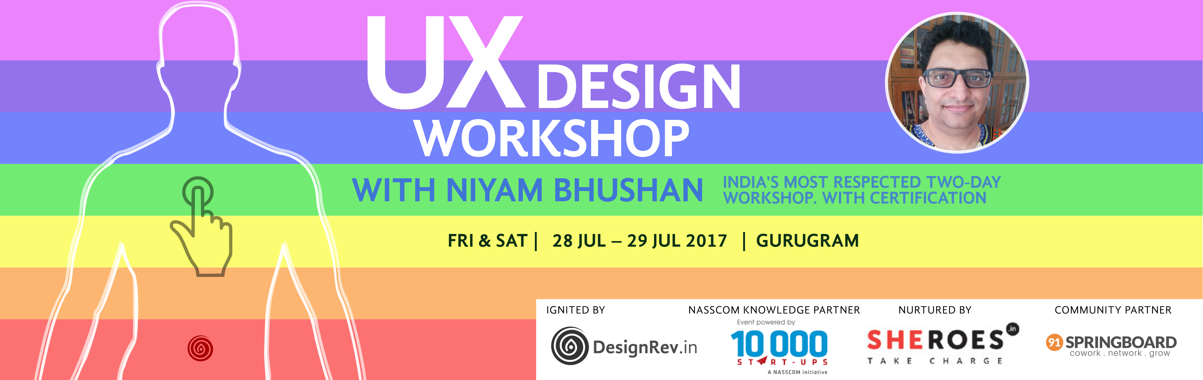 UX Design Workshop. 28 Jul 2017 to 29 Jul 2017, Gurugram India