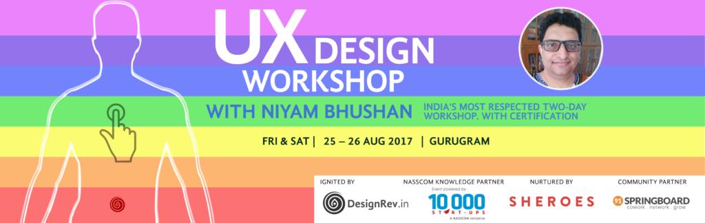 UX Design Workshop. 25 Aug 2017 to 26 Aug 2017, Gurugram, India