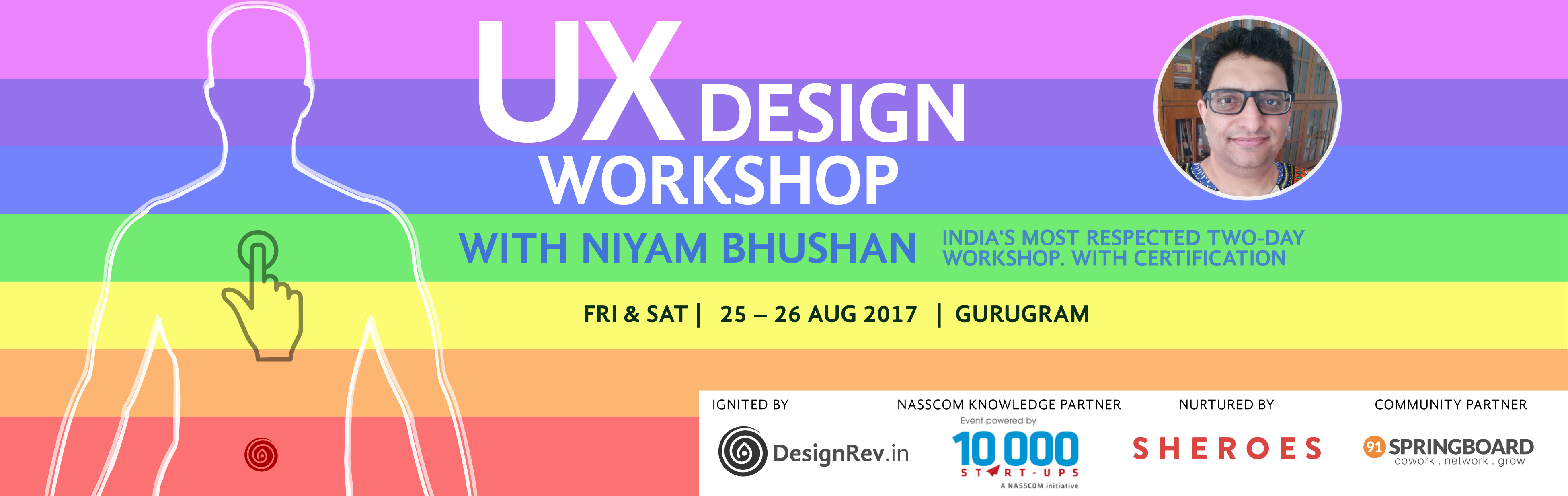 UX Design Workshop. 25 Aug 2017 to 26 Aug 2017, Gurugram, India