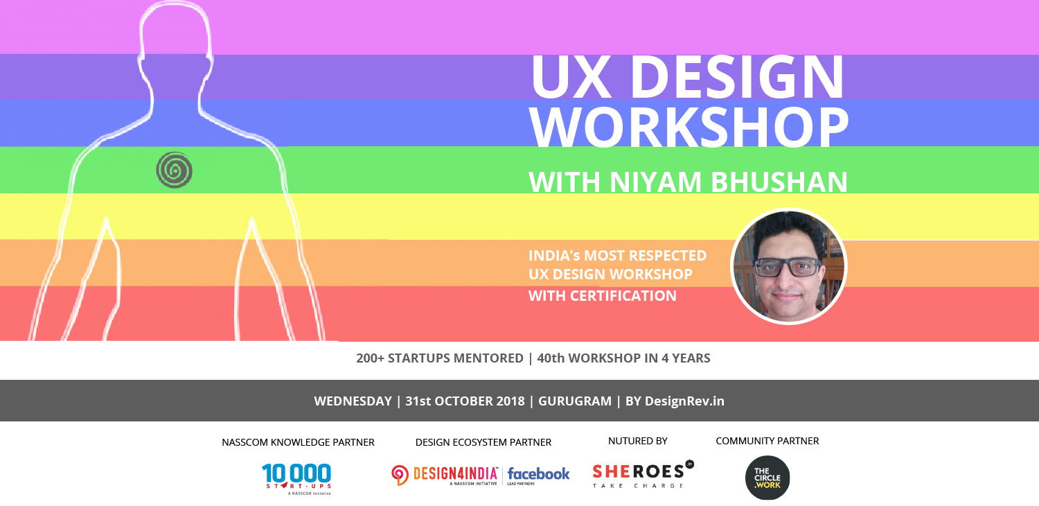 40th UX Design with Design-Thinking Workshop with Niyam Bhushan