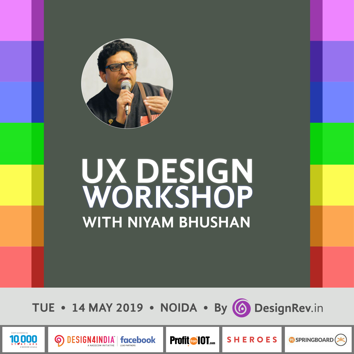 42nd UX Design Workshop @ 91Springboard, Sec 1, Noida. 900-1800 hrs. Tuesday, 14th May 2019