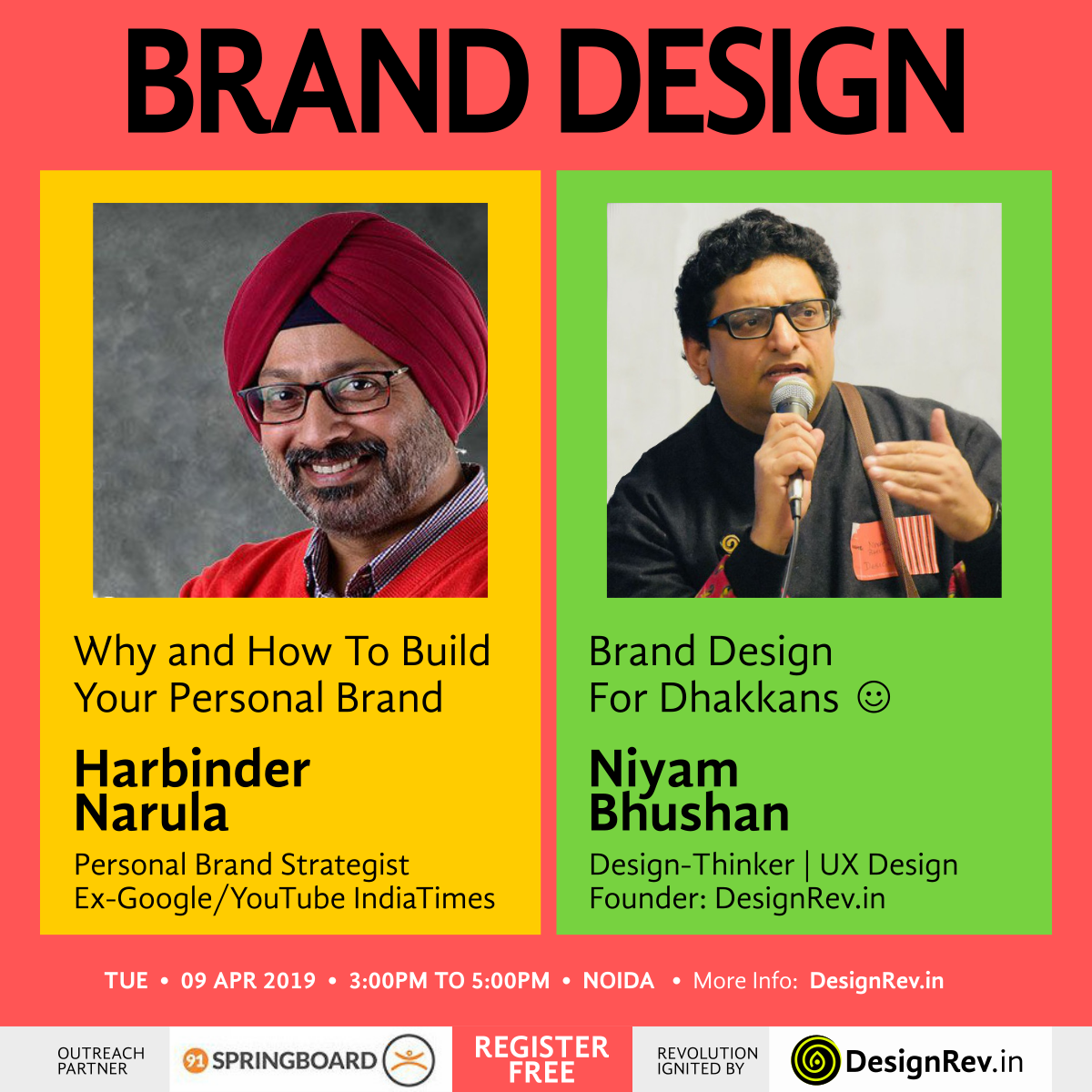 Brand Design Event by DesignRev with Harbinder Narula and Niyam Bhushan