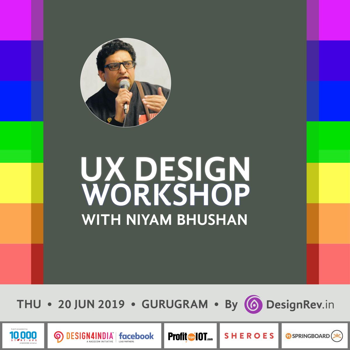 43rd UX Design Workshop with Niyam Bhushan on 20 Jun 2019 in Gurugram