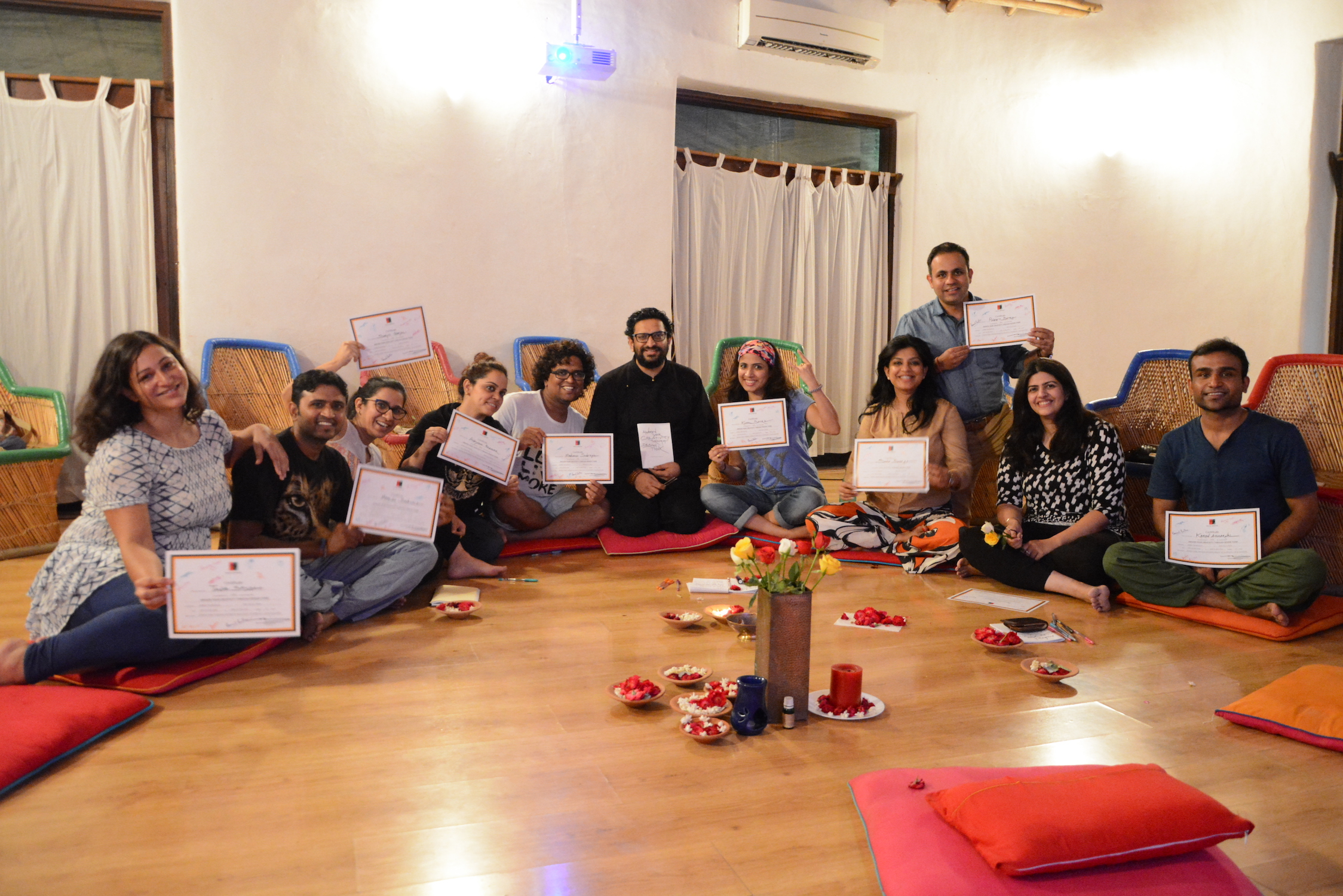 Awaken To Creativity - Meditation and Design Workshop. Aug 2016 with Niyam Bhushan